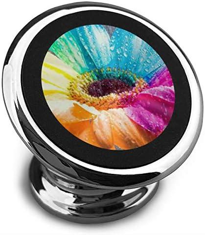 色とりどりの花 携帯電話ホルダー おしゃれ 車載ホルダー 人気 磁気ホルダー 大きな吸引力 サポートフレーム 落下防止 360度回転