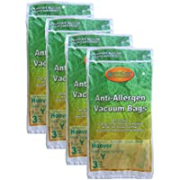 12 Hoover HEPA Allergy Type Y Bags, WindTunnel Upright Vacuum Cleaners, 43655109, 4010100Y, 4010801Y, AH10060DT,AH10040CLP,902419001, Royal, Gold Star, Pacific Steamex