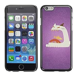 Be Good Phone Accessory // Dura Cáscara cubierta Protectora Caso Carcasa Funda de Protección para Apple Iphone 6 Plus 5.5 // Cat Fish Big Mouth Art Painting