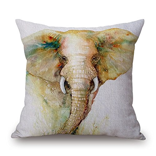 [Elephant Throw Pillow Covers 20 X 20 Inches / 50 By 50 Cm For Outdoor,relatives,indoor,father,relatives,him With Each] (80s Rock N Roll Costumes)