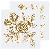 Tattly Temporary Tattoos, Floral/Gold, 0.1 Ounce