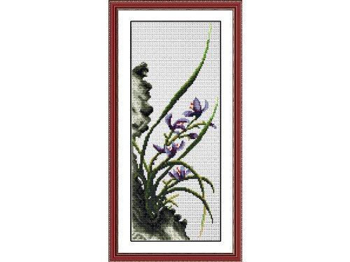 Happy Forever Cross Stitch,Chinese style flowers,Four gentlemen, orchid 1 ()