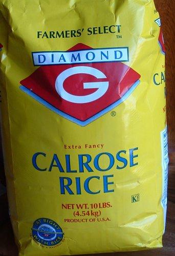 Diamond G Calrose Extra Fancy White Rice (Ten Pounds)