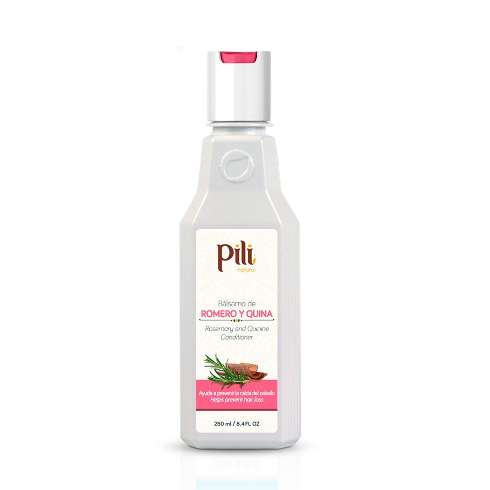 Pili Natural Rosemary and Quinine Conditioner - Romero y Quina Balsamo - Strengthen hair follicles, Prevents Hair Loss and Helps to Improve Growth. by Pili Natural