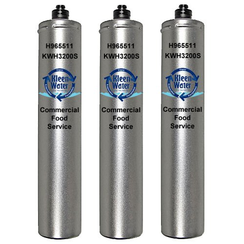 Hoshizaki 965511, 9655-11, 4HF-H, 4HF-C, 4HC-H and 9326-11H Compatible Filters, KleenWater Brand KWH3200S, Ice Machine, Food Service, Replacement Water Filter Cartridges, 3 Pack by KleenWater