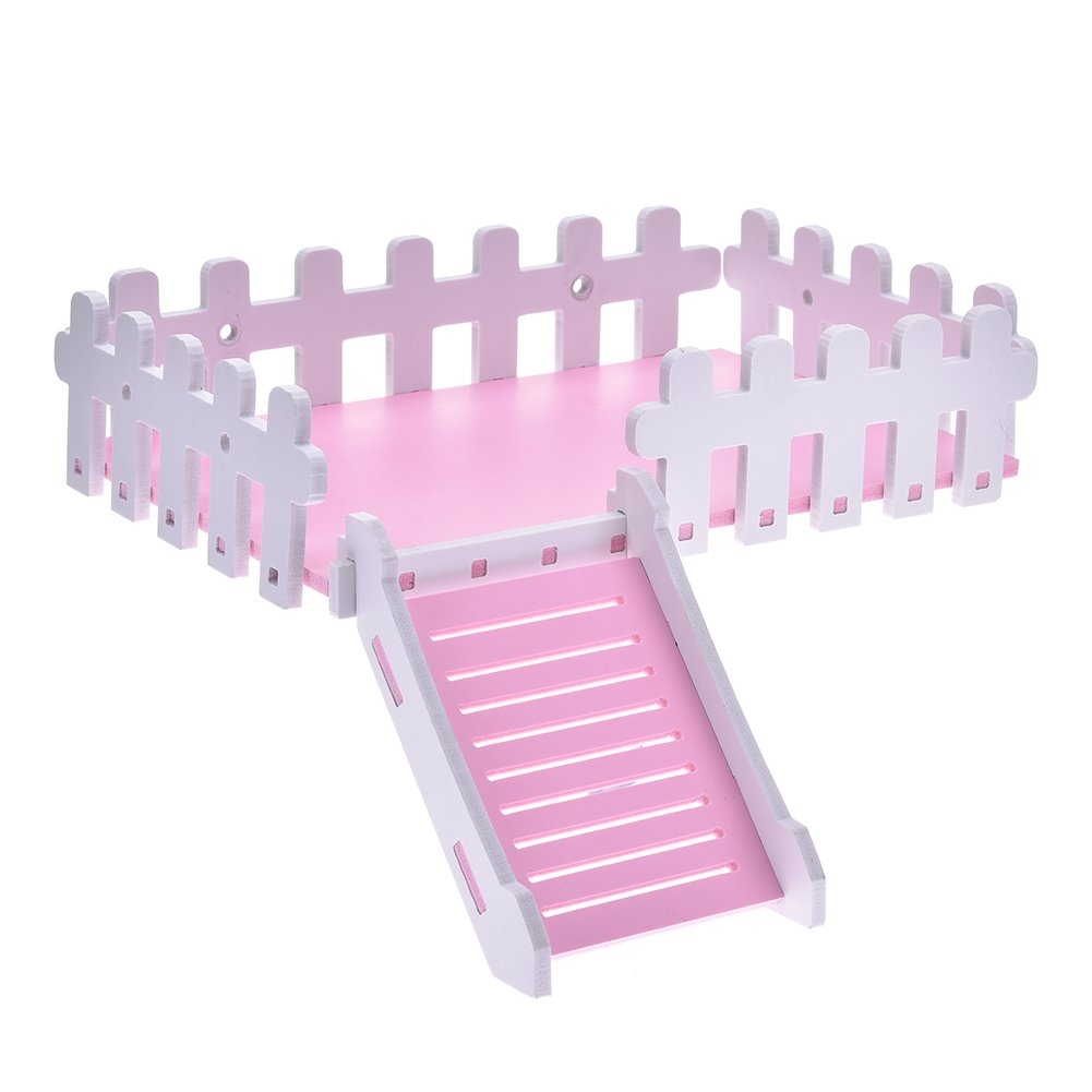 Yunt Pet Toy Platform Cute Climbing Kits Hamster Crawling Ladder Swing Platform Toys for Hamster Hedgehogs Totoro Squirrel Pink by Yunt (Image #1)