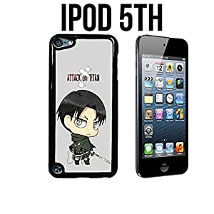 SNK Chibi Levi Custom made Case/Cover/skin FOR Apple iPod 5/5th Generation - Black - Plastic Snap On Case (Ship From CA)