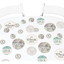 Big Dot of Happiness World Awaits - Travel Themed Party Giant Circle Confetti - Party Decorations - Large Confetti 27 Count