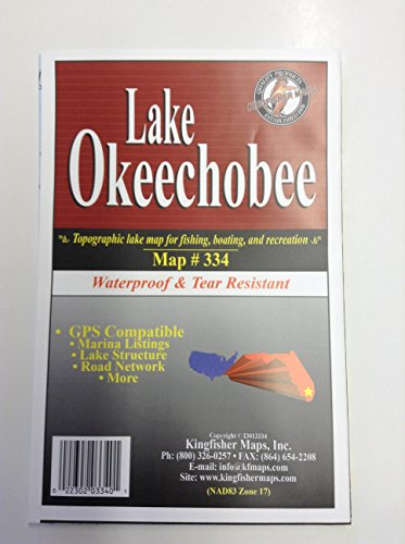 Lake Okeechobee Waterproof Contour Map For Fishing, Boating and Recreation Map No. 334