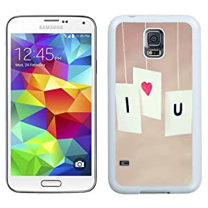 Beautiful Unique Designed Samsung Galaxy S5 I9600 G900a G900v G900p G900t G900w Phone Case With I Love You Cards Minimal Valentines_White Phone Case