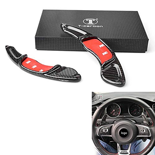 GZYF Black Carbon Fiber Auto Steering Wheel Paddle Shift Extension Replacement Fits VW Golf7 GTI Scirocco - Shift Scirocco Vw