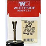 Whiteside Router Bits D8-437 Dovetail Bit with 7/16-Inch Large Diameter 5/8-Inch Cutting Diameter and 1/4-Inch Shank