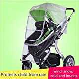Bemece Universal Stroller Rain Cover , Baby Stroller Weather Shield, Windproof, Waterproof, Dust Shield, Protect from Rain, Snow, Insects