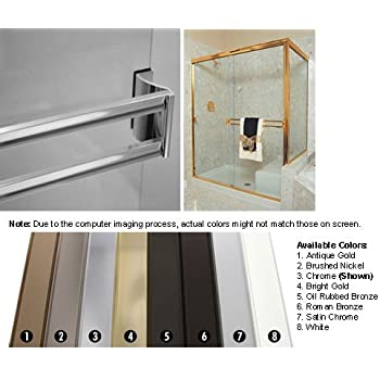Amazon Com Chrome Sliding Frameless Shower Door Double