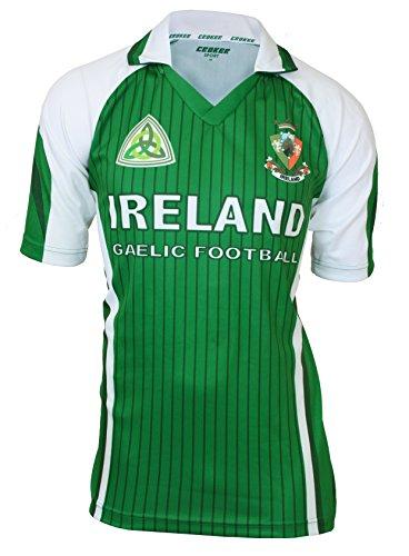Croker Ireland Green & White Sublimated Football Jersey - (Ireland Football)