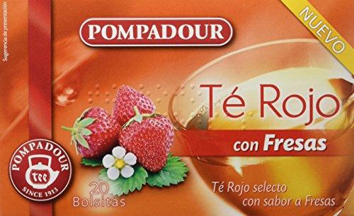 Pompadour Te Rojo con Fresas - 20 Bolsitas