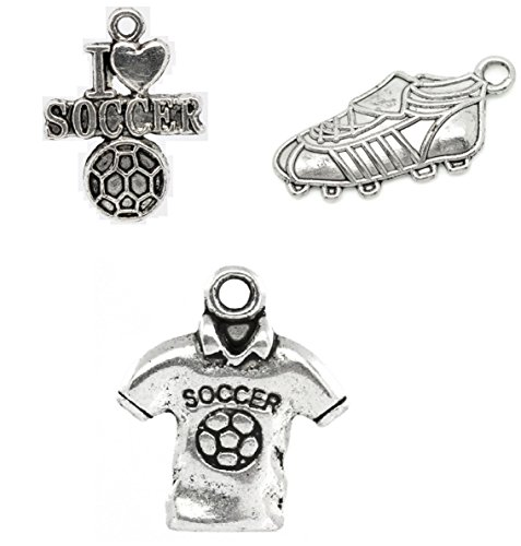 Soccer Anklet (Soccer Charms - 150 Pieces (50 of each - Cleats, I LOVE SOCCER, Jersey))