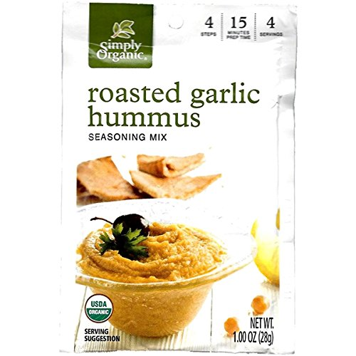 (Simply Organic Roasted Garlic Hummus (Pack of 3))