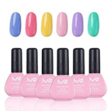 MelodySusie Gel Nail Polish Set, Sweet Reverie 1 Step Nail Gel Kit, Six Colors, Long Lasting, No Base and Top Coat Needed, Quick Curing with LED or UV Nail Dryer, Easy Soak Off