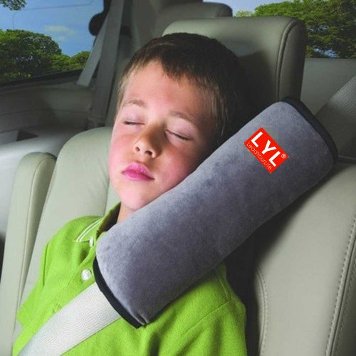 LYL® Children Baby Soft Headrest Neck Support Pillow Shoulder Pad for Car Safety Seatbelt by LeadYourLife