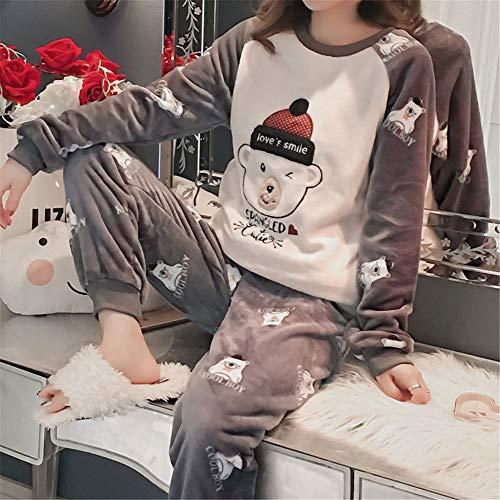Casual Sleep E Coral Servicio Xl De Cálido Sets Gruesa A Mujer Domicilio Sport Invierno Pijamas Pants Otoño Xxl 2 Suave Polar Franela Baijuxing TZ8wYq8
