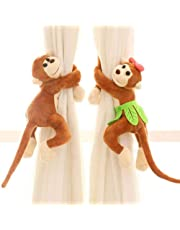Queta - Hebilla para Cortinas de Mono, 1 par de Cortinas Creativas, Lindo cordón para Cortina de Mono