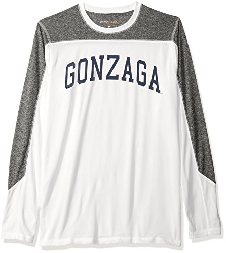 NCAA Gonzaga Bulldogs Men's Paneled Long Sleeve Tee, X-Large, White