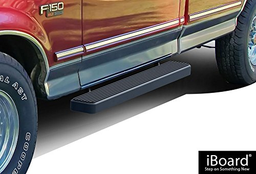 - APS iBoard Third Generation 6-Inch Black Aluminum Running Boards Side Step for Selected Ford Bronco/F150 Regular Cab