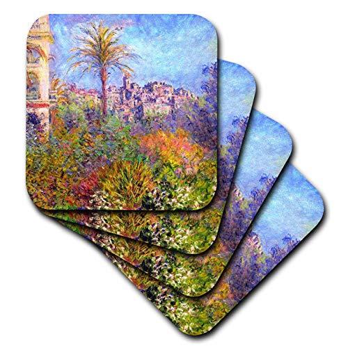 3dRose VintageChest - Masterpieces - Claude Monet - Villas by Bordighera - set of 8 Ceramic Tile Coasters (cst_303354_4)