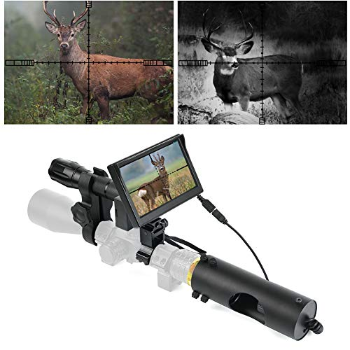 "BESTSIGHT DIY Digital Night Vision Scope for riflescopes with Camera and 5"" Portable Display Screen"