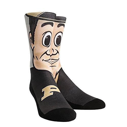 NCAA Purdue Boilermakers Custom Athletic Crew Socks, Large/X-Large, Purdue Pete Mascot (Cushion Seat Purdue)