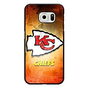 Samsung Galaxy S6 Edge Case Girly NFL Kansas City Chiefs Football Team Logo Sports Design Hard Custom New Protective Rugged Protection Accessories Case Cover for Men