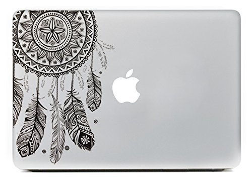 Vati Blätter Removable Dream Catcher Beste Vinyl Aufkleber Aufkleber Skin Art Perfektes Schwarz für Apple Macbook Pro Air Mac 13