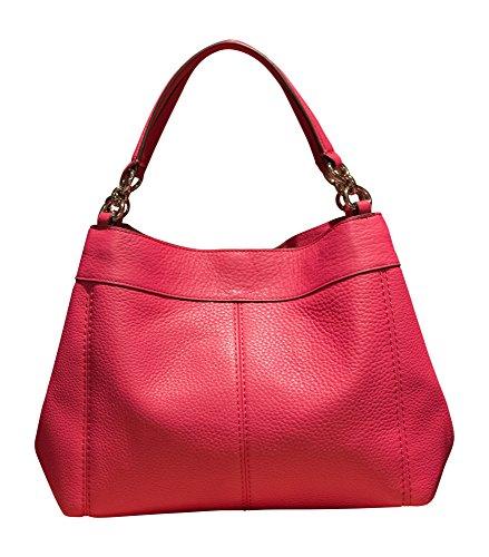 Shoulder Small Lexy Pebbled Leather Magenta Handbag Bag Coach qwxUCU