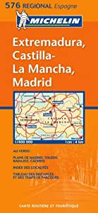 Mapa Regional Extremadura, Castilla - La Mancha, Madrid (Carte regionali)