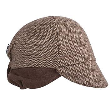 9287aa25acb Walz   WOWOOO WALZ Cycling Cap   Wool 4 Panel   Brown Herringbone with Ear  Flap