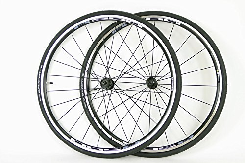 Shimano R501 Road Bike Wheels Wheel Set 8 9 10 Speed 700c Rims + FREE Continental Tires Tubes (Felt Bike Tires)