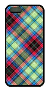 AQ Tartan Customized Rubber Black iphone 5/5s Case By Custom Service Your Great Choice