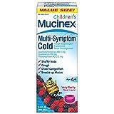 Mucinex Children's Multi-Symptom, Cold Relief Liquid, Very Berry, 6.8oz