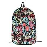 Owill Backpack Teenage Girls School Backpack Bag Leaves Printing Female Students Bags (Black)