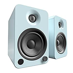 Kanto YU4 Powered Bookshelf Speakers with Bluetooth® and Phono Preamp (Gloss Teal)