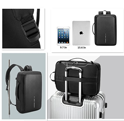 6a98e6b372ed Zrui Slim Business Laptop Backpack for Men, Anti Theft Backpack ...