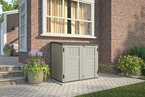 Suncast Horizontal Storage Shed Outdoor Storage Shed For