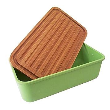 Brotkasten Design magu 130 675 brotkasten natur design grün amazon de küche haushalt