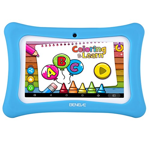 Kids Tablet Android 7.1, 7 Inch, HD Display, Quad Core, Children Tablet, 1GB RAM + 8GB ROM, with WiFi, Dual Camera, Bluetooth, Educational,Touch Screen Kid Mode,Parental Control (M Blue 03)
