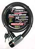 Trimax TQ2548 Trimaflex Long Integrated Keyed Cable Lock, 48-Inch X 25mm