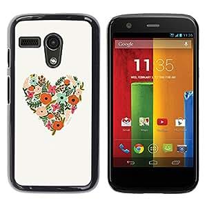 For Motorola Moto G1 / X1032 Case , Spring Floral Pattern Love Summer - Diseño Patrón Teléfono Caso Cubierta Case Bumper Duro Protección Case Cover Funda