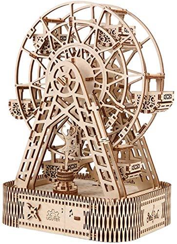 Gxwt El corte por laser, DIY 3D Modelos de madera grande noria Musica caja del rompecabezas de artesania en madera regalo de los juguetes for los ninos ninos y ninas Escritorio Decoracion, Regalo de c