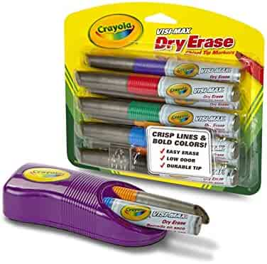 Crayola Dry Erase Markers & Magnetic Eraser Set, Classroom Supplies, 9 Count, Gift