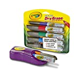 Crayola Dry Erase Markers and Magnetic Eraser Set, Classroom Supplies, 9ct